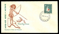Lot 26751:1963 Red Cross 5d tied to illustrated FDC by Rabaul cds 1MY63, unaddressed.
