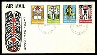 Lot 24121:1966 Folklore set tied to illustrated FDC by Port Moresby cds 8JE66, unaddressed.