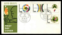 Lot 4491:1968 Human Rights set tied to illustrated FDC by Port Moresby cds 26 6 68, unaddressed.