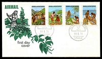 Lot 4523:1971 Primary Industries set tied to illustrated FDC by Port Moresby cds 18 8 71, unaddressed.