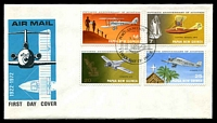 Lot 4492:1972 Aviation set tied to illustrated FDC by Port Moresby cds 7 6 72, unaddressed.