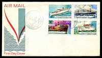 Lot 26752:1976 Ships set tied to illustrated FDC by Port Moresby cds 21 JAN 1976, unaddressed.