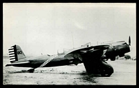 Lot 244:Aircraft: black & white PPC of a Curtiss YA 8, real photo.