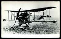 Lot 296:Aircraft: black & white PPC of a Boeing MB3A, real photo.