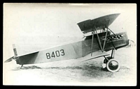 Lot 51:Aircraft: black & white PPC of a Fokker DY, real photo.