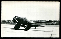 Lot 287:Aircraft: Black & white PPC 'Curtiss XA8', real photo.