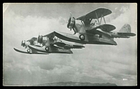 Lot 275:Aircraft: Black & white PPC with a trio of 'Grumman J2f-1', real photo.