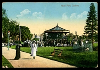 Lot 355:Australia - New South Wales: Multi coloured PPC 'Hyde Park, Sydney'.