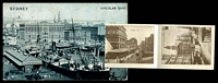 Lot 42 [3 of 3]:Australia - New South Wales: Black & white PPC 'Sydney Circular Quay' with pull out views of Sydney, nice card.