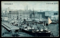 Lot 42 [1 of 3]:Australia - New South Wales: Black & white PPC 'Sydney Circular Quay' with pull out views of Sydney, nice card.