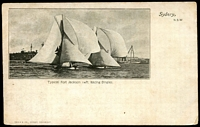 Lot 367:Australia - New South Wales: Black & White PPC 'Typical Port Jackson 14ft Racing Dingies', early undivided back card.