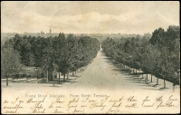 Lot 49 [1 of 2]:Australia - South Australia: Black & white PPC 'Frome Road Adelaide from North Terrace'.