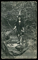 Lot 44:Australia: Black & white PPC 'The Witch of the Wood' Australian Series.