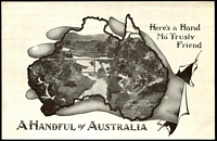 Lot 56 [1 of 2]:Australia: Black & white PPC 'A Handful of Australia' a typical country scene .