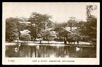 Lot 71:Great Britain: Black & white PPC 'Lake & Aviary, Arboretum, Nottingham', real photo.