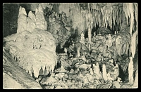 Lot 118:New Zealand: black & white PPC 'The Wedding Cake, Bridal Grotto, Ruakuri Caves, Waitomo NZ'.
