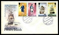 Lot 4337:1976 Bicentenary of America set tied to illustrated FDC by Adamstown cds 4 July 1976, unaddressed.