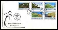 Lot 4339:1981 Scenic Views set tied to illustrated FDC by Adamstown cds 22 January 1981, unaddressed.