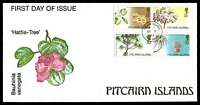 Lot 4094:1983 Trees of Pitcairn set tied to illustrated FDC by Adamstown cds OC 6 83, unaddressed.