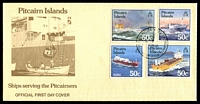 Lot 4341:1985 Ships set tied to illustrated FDC by Adamstown cds AUG 28 1985, unaddressed.