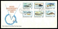 Lot 4356:1982 Pictorials set tied to illustrated FDC by Scott base cancel 20 JAN1982, unaddressed.