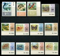 Lot 4597:1972-74 Defins SG #390-399b set to $4. (12)