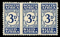 Lot 28317:1943-4 SG #D33 3d indigo strip of 3