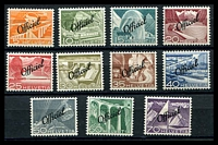 Lot 4711:1950 Overprints: SG #O522-32 set, Cat £95. (11)