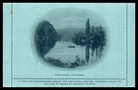 Lot 10622 [2 of 2]:1900 Unframed Views Small Arms HG #A2 2d violet on light blue with scene River Derwent, New Norfolk