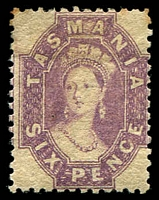 Lot 1742:1871-91 Chalon Wmk Double-Lined Numeral Perf 11½ SG #136 6d lilac.