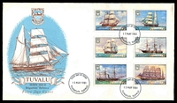 Lot 28487:1981 Sailing Ships set tied to illustrated FDC by Funafuti cds 13MAY1981, unaddressed.