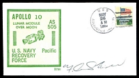 Lot 29329:1969 Apollo 10 illustrated cover signed by Astronaut Frank Mitchell.