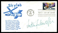 Lot 26368:1974 Skylab FDC with Skylab cachet signed by Astronaut Anthony Llewellyn.