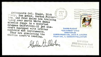Lot 4539:1976 Columbia Orbiter cover with cachet signed by Astronaut Gordon Fullerton.