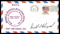 Lot 4278:1977 George C Marshall Space Flight Centre illustrated cover signed by Astronaut Donald Holmquest.