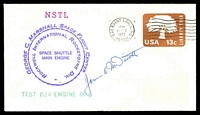 Lot 4773:1977 George C Marshall Space Flight Centre illustrated cover signed by Astronaut James McDivitt.
