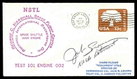 Lot 4279:1977 George C Marshall Space Flight Centre illustrated cover signed by Astronaut Jack Lousma.