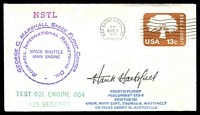 Lot 4508:1977 George C Marshall Space Flight Centre cover signed by Astronaut Hank Hartsfield.