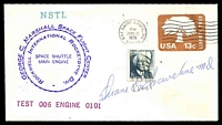 Lot 4509:1978 George C Marshall Space Flight Centre cover signed by Astronaut Dr Duane Graveline.