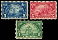 Lot 4757:1924 Huguenot Walloon Tercentenary Sc #614-6 set. (3)