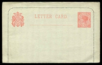 Lot 11416:1895 2d QV Rose on Very Pale Grey Stieg #8