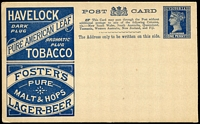 Lot 9886:1895 Beer & Baccy Stieg #18 Advertising card, unused.