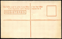 Lot 11457 [2 of 2]:1901 QV Embossed Stieg #C9 3d red-orange on laid paper.