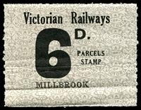 Lot 1649:1953-68 Tenth Series 6d black on white issued for Millbrook.