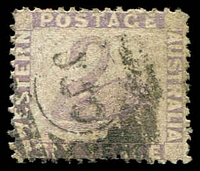 Lot 3349:1864-79 Wmk Crown/CC Perf 12½ SG #59 6d lilac.