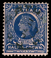 Lot 3354:1902-12 Wmk V/Crown Perf 12½ or 12½x12 SG #125 2/6d deep blue.