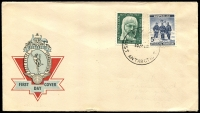 Lot 3104:1962 Hermes illustrated cover with 5d Mawson pair tied by Wilkes cds 10 JA 62, unaddressed.