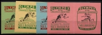 Lot 921:1956 Olympex Philatelic Exhibition Melbourne: set of 4 se-tenant labels very fine. (8)
