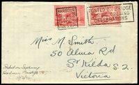 Lot 569:1932 Sydney Harbour Bridge Opening plain cover with 2d Typo and 2d Engraved Harbour Bridge adhesives tied by Sydney Harbour Bridge special cancel 19Mar1932.