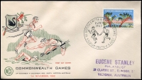 Lot 801 [5 of 5]:1962 Perth Empire Games Complete set of twenty five Empire Games illustrated covers each with 5d Games stamp tied by special event cancels. (25)